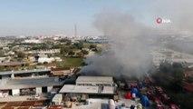 Tuzla'da bir işyerinde yangın çıktı. Yağ kazanlarının iddia edildiği yangın nedeniyle çok sayıda itfaiye ekibi sevk edildi.
