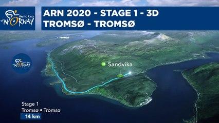 Stage 1 in 3D - Tromsø to Tromsø - Arctic Race of Norway 2020