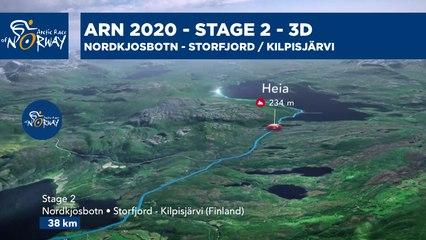 Stage 2 in 3D - Nordkjosbotn to Storfjord / Kilpisjärvi - Arctic Race of Norway 2021