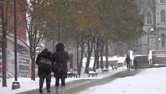 """""""I'm glad that it's here actually,"""" college student happy for recent snow"""
