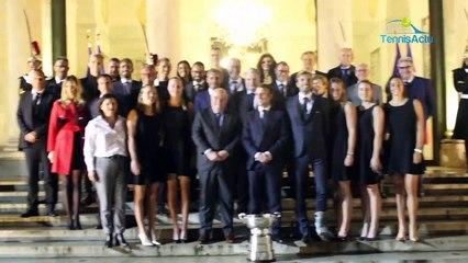 Fed Cup 2019 - L'équipe de France reçue ce mardi soir à l'Elysée par le Président Emmanuel Macron