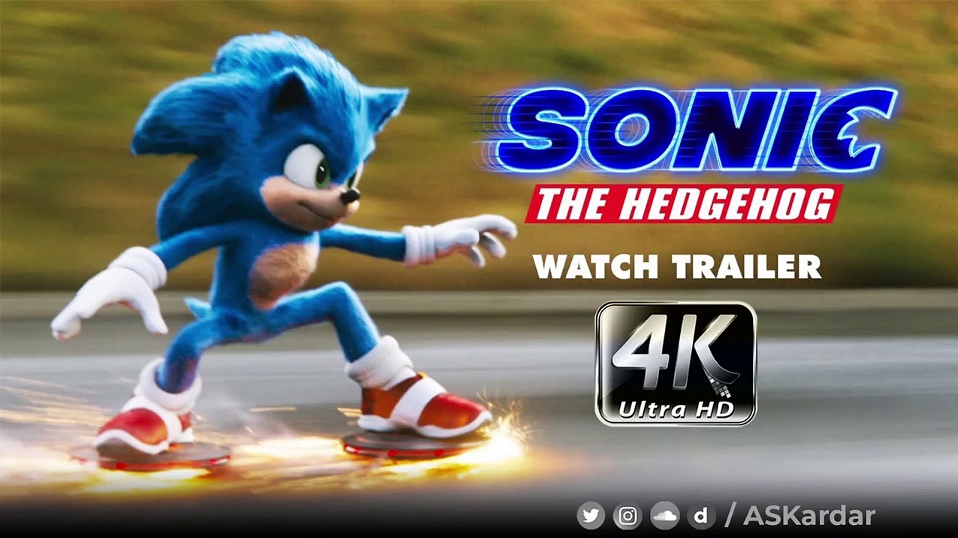 4k Sonic The Hedgehog Official Trailer 2020 Askardar Video Dailymotion