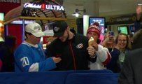 Un supporter se fait voler sa glace en direct à la télévision !