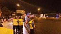Policía francesa en Biriatou por la caravana del Tsunami Democràtic