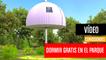 [CH] Casas desplegables para dormir gratis en el parque