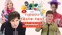Literally Just Celebrities Taste Testing Water for 3 Minutes  | Expensive Taste Test | Cosmo