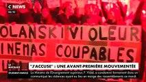 Incidents hier lors d'une avant-première du film de Roman Polanski à Paris en présence de l'acteur Louis Garrel: La projection annulée sous la pression