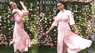 Kangana Ranaut looks sizzling in floral look at Femina Flaunt Beauty Studio; Watch video | FilmiBeat