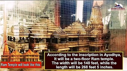 """The model of the Grand """"Ram Temple"""" in Ayodhya"""