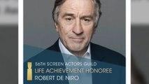 Robert De Niro to receive Hollywood Acting Union's top honour