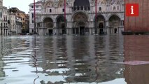Venice's St Mark's Square submerged in floods that leave two dead