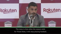 Villa retires from football before 'football retires from him'
