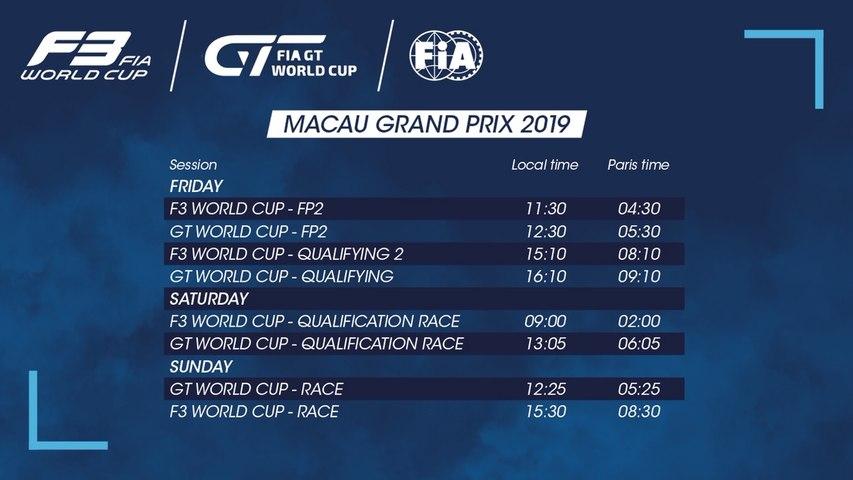 LIVE - 2019 MACAU GRAND PRIX LIVE STREAM.