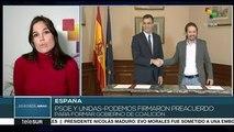 España: PSOE y Unidas Podemos acuerdan gobierno de coalición