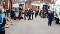 David Jason filming Still Open All Hours in Doncaster