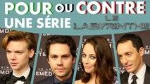 LE LABYRINTHE : Pour ou Contre une série ?  Dylan O'Brien, Kaya Scodelario répondent.