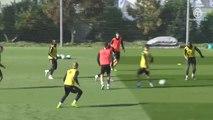 El Real Madrid se entrena sin sus internacionales