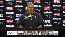 Bill Belichick Struggles With Some Sniffles During Press Conference