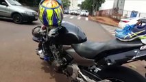 Acidente é registrado na Rua Pio XII, esquina com a Rua São Paulo