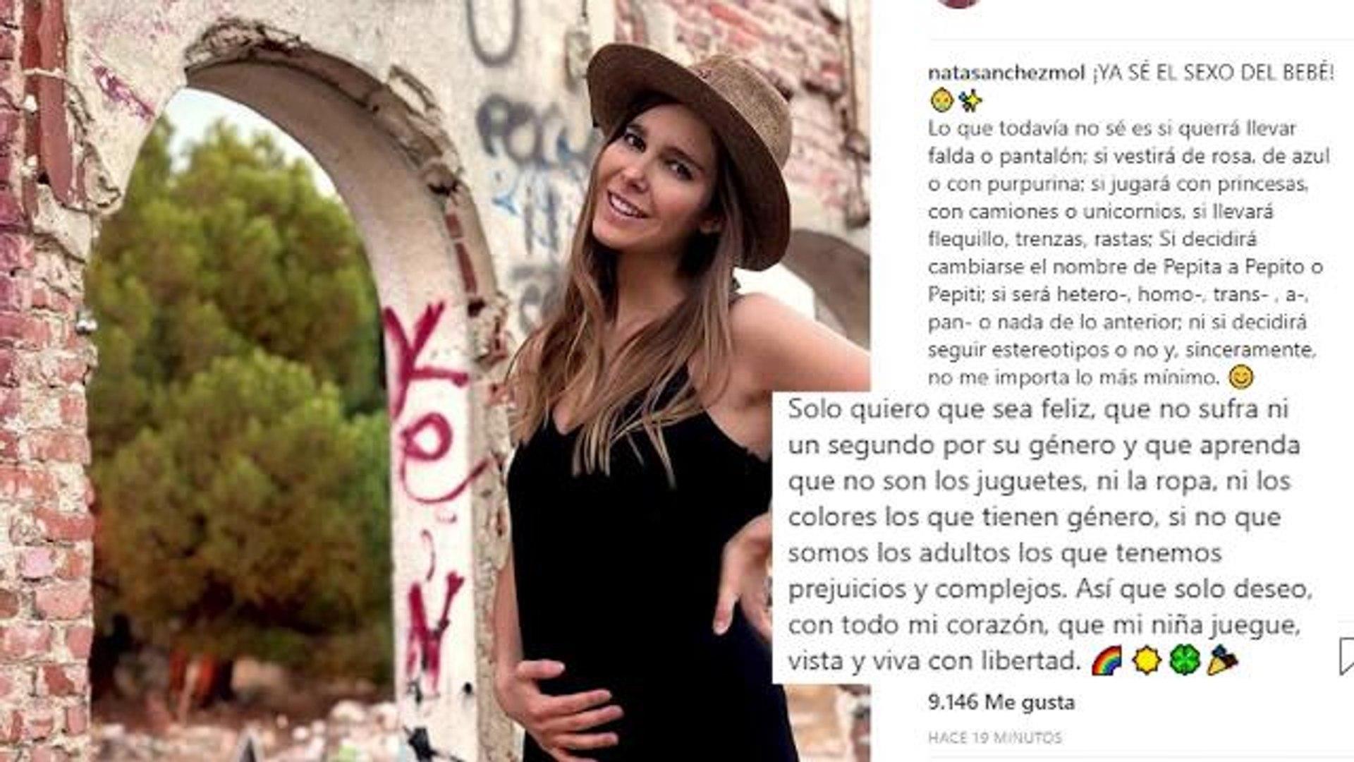 Natalia Sánchez desvela el sexo de su bebé