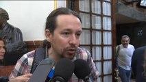 """Pablo Iglesias: """"Es un fraude que haya medios que hablen de plagio en la tesis de Sánchez"""""""