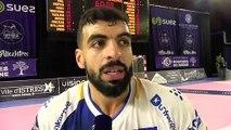 Kader Rahim après la victoire de USDK Dunkerque à Istres Provence Handball