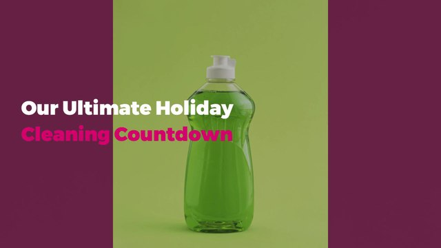 Our Ultimate Holiday Cleaning Countdown