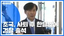 """조국, 장관 사퇴 한달 만에 검찰 출석...""""피의자 신분 조사 중"""" / YTN"""
