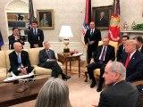 Cumhuriyetçi senatör Lindsey Graham, Erdoğan ve Trump'ın karşısında bacak bacak üstüne atarak oturdu