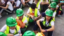 QC students join nationwide simultaneous quake drill