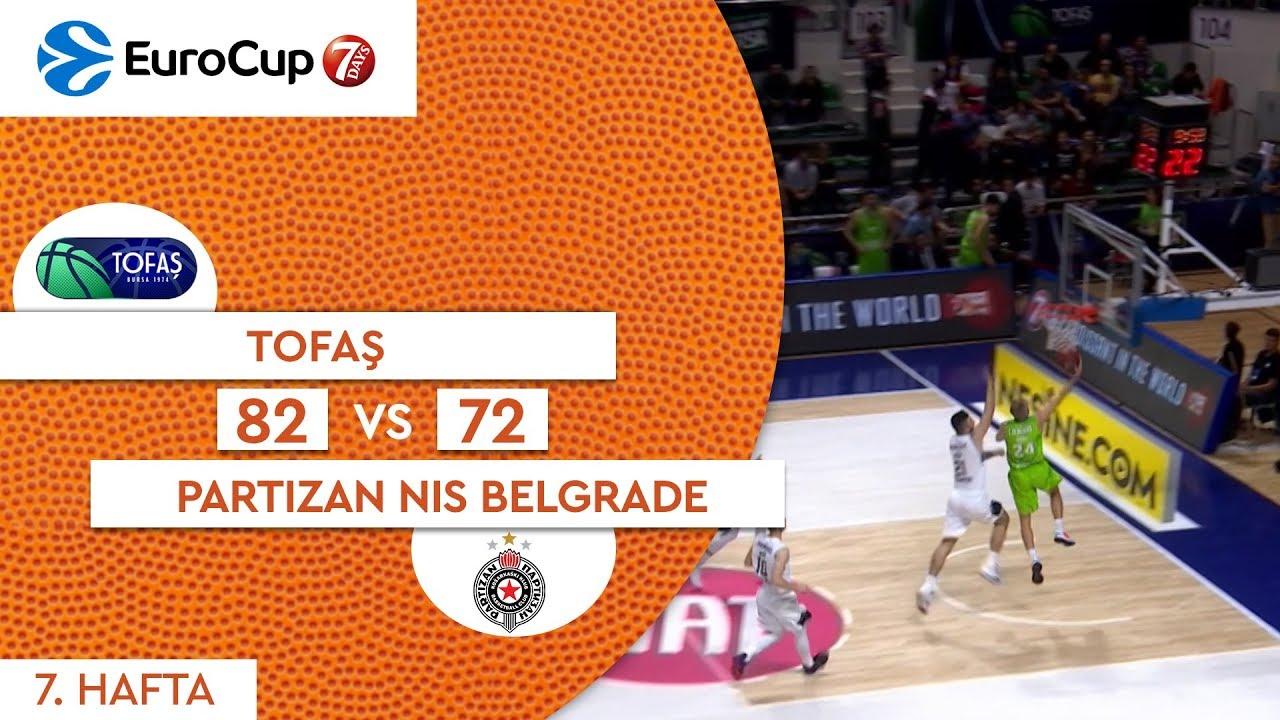 Tofaş 82 - 72 Partizan NIS Belgrade | Maç Özeti - EuroCup 7. Hafta