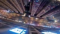 Impresionante: salto BASE desde un rascacielos en China