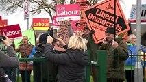 """Boris out"" chants heard outside school PM visited"