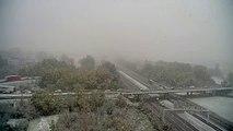 L'A7 sous la neige près de Valence