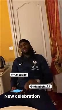 La nouvelle célébration de Kylian Mbappé, Benjamin Mendy et Tanguy Ndombele