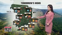 Rain in central areas but warmer on Friday