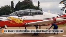 वायुसेना प्रमुख ने स्वदेशी एचटीटी-40 ट्रेनर विमान उड़ाया
