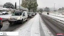 La circulation est difficile ce jeudi 14 novembre dans les rues de Valence.