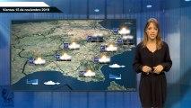 El pronóstico del tiempo para el viernes 15 de noviembre.