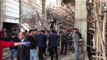 Cami inşaatında çöken iskelenin altında kalan 2 kişi yaralandı (2)