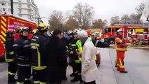 Incendie à Annecy : briefing des secours