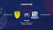 Previa partido entre Burton Albion y Southend United Jornada 18 League One