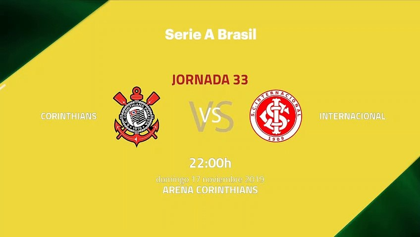 Previa partido entre Corinthians y Internacional Jornada 33 Liga Brasileña
