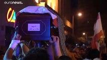 شاهد: تشييع مواطن لبناني قتل في مظاهرات مستمرة في البلاد ضد الطبقة الحاكمة