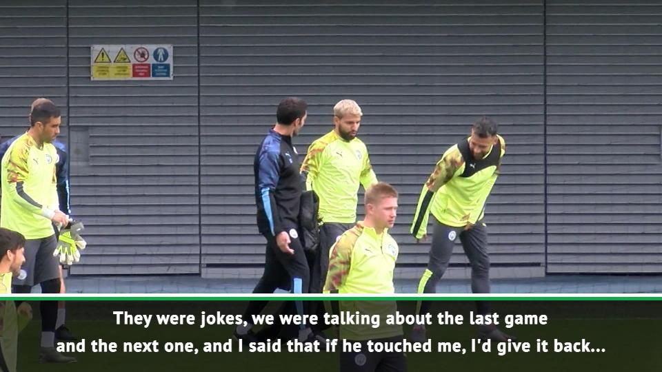 I'll kick Otamendi! - Jesus jokes about Argentina game