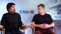 Christian Bale & Matt Damon on fighting in Le Mans 66