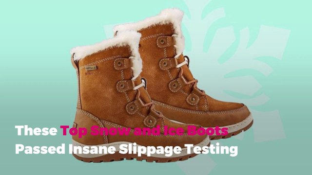 These Top Snow and Ice Boots Passed Insane Slippage Testing
