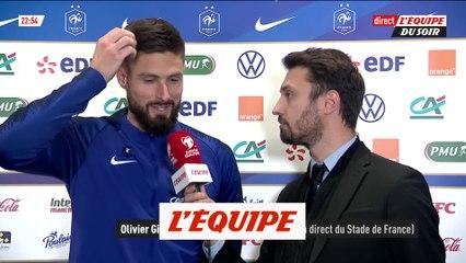 Giroud «J'ai beaucoup tenté ce soir» - Foot - Bleus