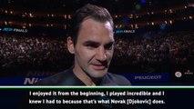 Federer thanks 'magical' fans after brilliant victory over Djokovic