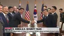 Defense chiefs of S. Korea, U.S. to discuss GSOMIA, defense cost sharing at annual meeting